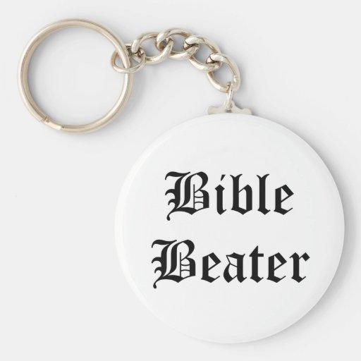 Batidor de la biblia llavero redondo tipo pin