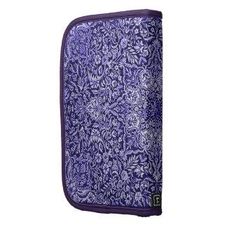 Batik adornado de la tapicería del vintage en púrp organizador