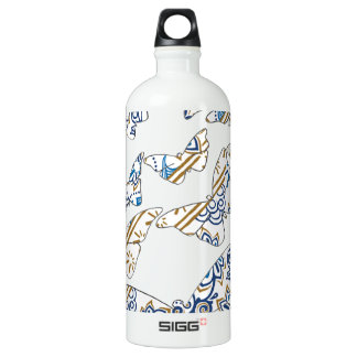 batik and butterfly no.4 water bottle