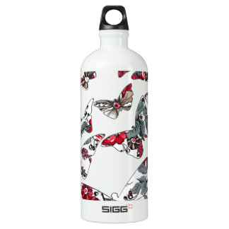 batik and butterfly no.5 aluminum water bottle