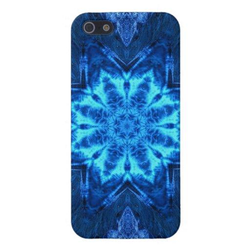 Batik azul iPhone 5 fundas