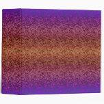 Batik Binder Purple, Pink, Brown, Orange & Gold