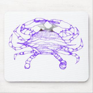 Batik Blue Crab Mousepad