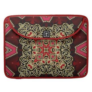 Batik Celtic Fusion Red Gold Laptop Sleeve