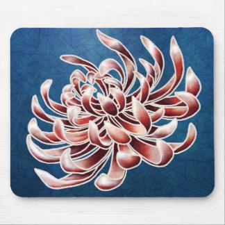 Batik Chrysanthemum Mouse Pad