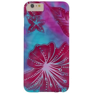 Batik de la flor de Bali tropical Funda De iPhone 6 Plus Barely There