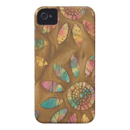 Batik de la flor de la margarita de los pasteles d Case-Mate iPhone 4 coberturas