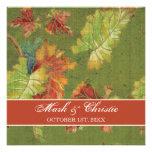 Batik de la hoja de la uva del otoño de la invitac