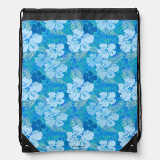 Batik del azul del hibisco mochila