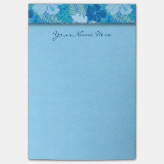 Batik del azul del hibisco post-it® notas