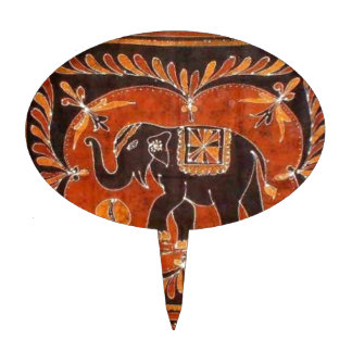 Batik del elefante palillos de tarta