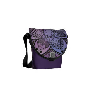 Batik Design Rickshaw Messenger Bag