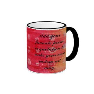 Batik Dots Background to Customize Coffee Mugs