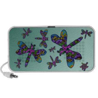 Batik Dragonflies Portable Speaker