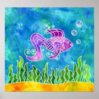Batik Fishy Print print