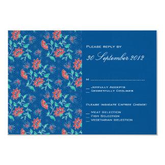 """Batik floral de Aiyana que casa la tarjeta 3 de Invitación 3.5"""" X 5"""""""