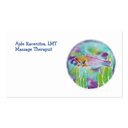 Batik Hinalea Hawaiian Wrasse Fish Batik Art Double-Sided Standard Business Cards (Pack Of 100)