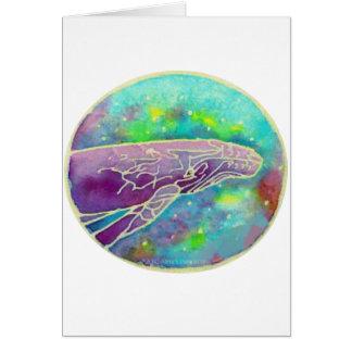 Batik Humpback Whale Art Greeting Card