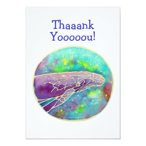 Batik Humpback Whale Art Thank You Cards Template Custom Invite