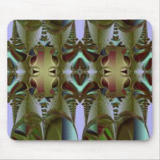 Batik in Green and Brown Mouse Pad