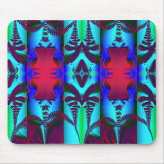 Batik in Red and Aqua Mouse Pad