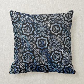 Batik indio - azul cojín