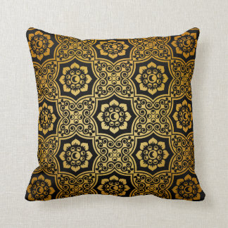 Batik indio - oro cojin