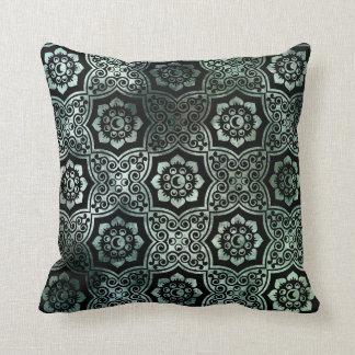 Batik indio - verde almohada