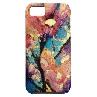 Batik japonés de la acuarela de la magnolia funda para iPhone SE/5/5s