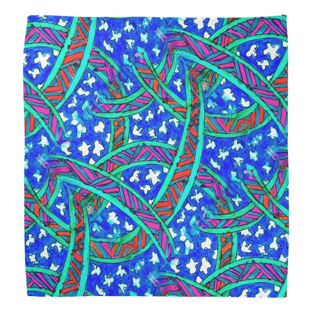 Batik-Look on Bandana