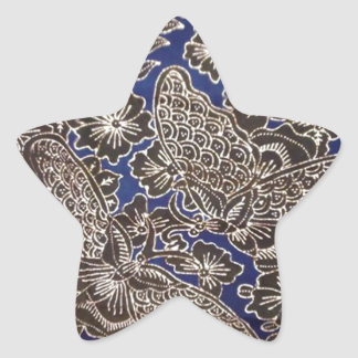 batik no.21 collection star sticker