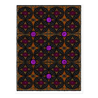 Batik pattern postcard