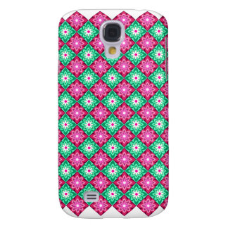 Batik Pink n Green Samsung Galaxy S4 Cover