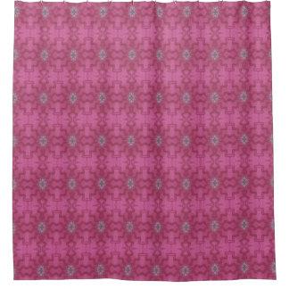 Batik Pinks Waves Shower Curtain