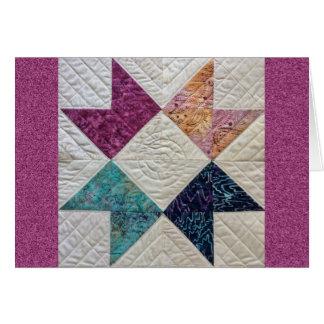 Batik Quilt Greeting Card