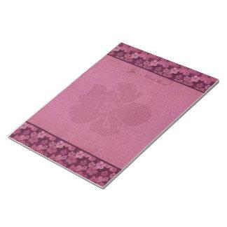 Batik rosado de las flores del hibisco bloc