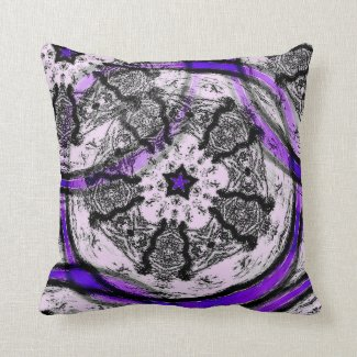 Batik-Styled Throw Pillow