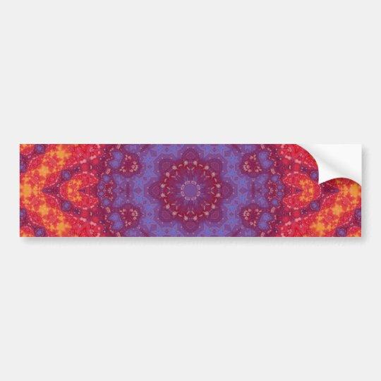 Batik Sunset Watercolor Mandala Bumper Sticker