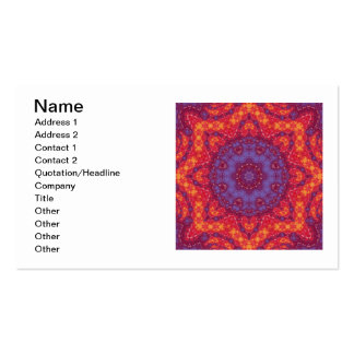 Batik Sunset Watercolor Mandala Business Card Templates