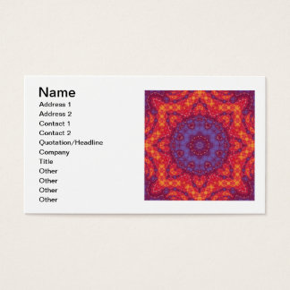Batik Sunset Watercolor Mandala Business Card
