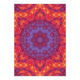 Batik Sunset Watercolor Mandala Card