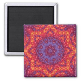 Batik Sunset Watercolor Mandala Magnet