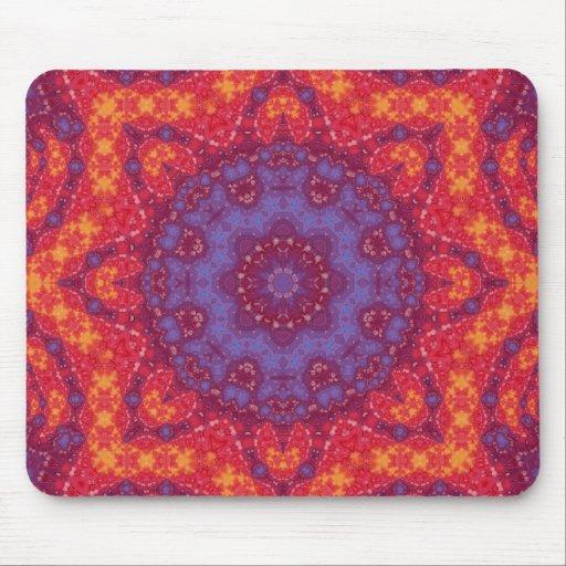 Batik Sunset Watercolor Mandala Mouse Pad