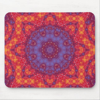 Batik Sunset Watercolor Mandala Mouse Pad