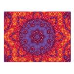 Batik Sunset Watercolor Mandala Post Cards