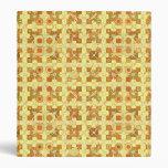 Batik tribal - amarillo, marrón de oro y moreno