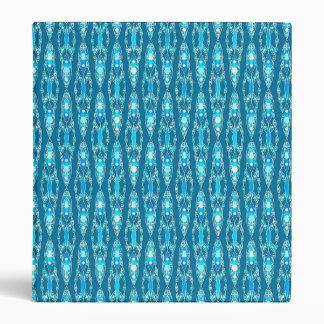 "Batik tribal - azul y aguamarina de océano carpeta 1"""