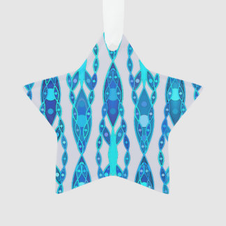 Batik tribal - gris azul y de plata del zafiro