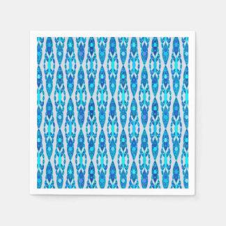 Batik tribal - gris azul y de plata del zafiro servilletas desechables