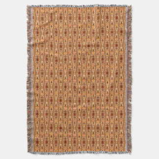 Batik tribal - moho, terracota y beige manta